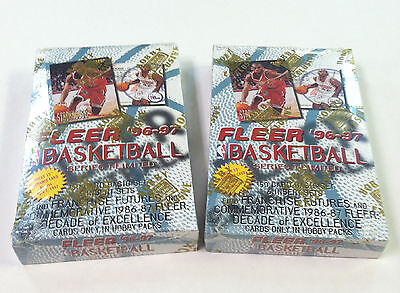 1996-97 FLEER BASKETBALL SERIES 1 Original Factory Sealed 2 BOX LOT Low Price!