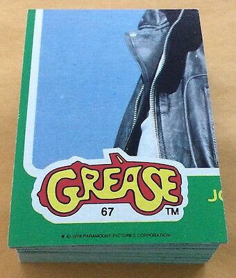 1978 Topps Grease 2 Trading Card Set