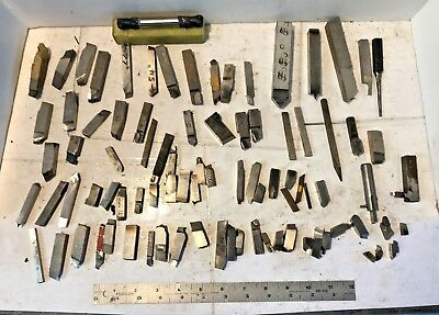 LATHE TOOL BITS TURNING TOOLS LOT, HSS CARBIDE TIP, Machinist Tool Lot Free Ship