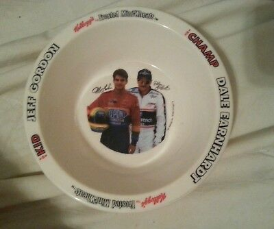 Kellogg's NASCAR Jeff Gordon Dale Earnhardt The Kid & The Champ Cereal Bowl RARE