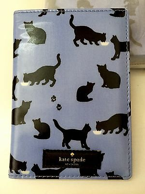 Kate Spade Passport Holder Bifold Case Wallet Daycation Cats And Cream Print NWT