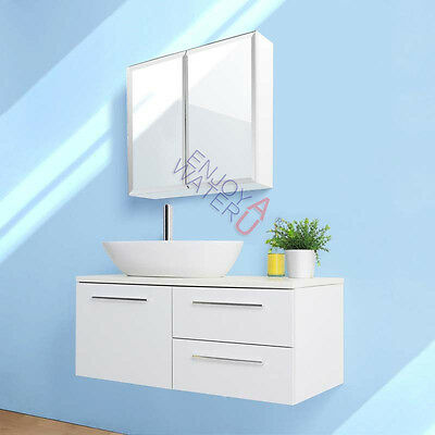 600 X 720 X 150MM Bevel Edge Mirror Cabinet Shaving Medicine Bathroom Gloss NEW