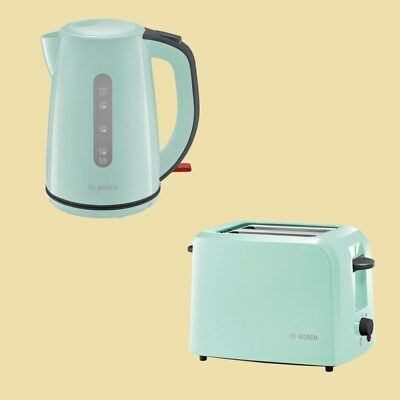 Bosch Set - Wasserkocher TWK 7502 + Toaster TAT 3A012 mint turquoise/black grey