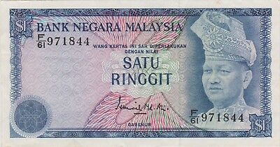 (N8-96) 1976 Malaysia 1 Ringgit bank note (A)
