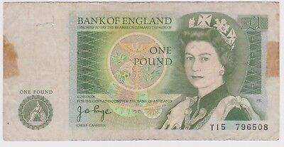 (N8-113) 1978 GB one pound bank note (A)