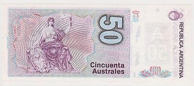 (N8-68) 1986 Argentina 50 AUSTRALES bank note (A)
