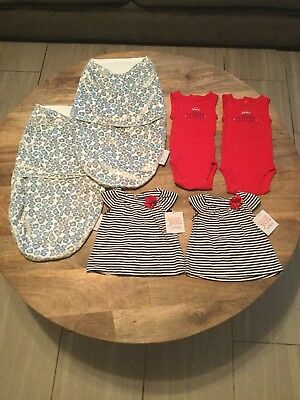 CARTERS NWT baby girl clothes Newborn lot bundle TWINS