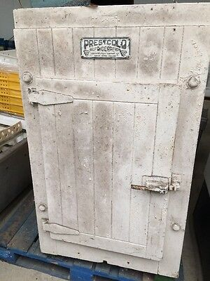 Vintage Fridge. Circa 1945. Stripped Back To Wood . Make Fantastic Wine Feature