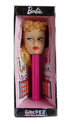 """Barbie Giant PEZ Candy Roll Dispenser 12"""" Tall - New"""
