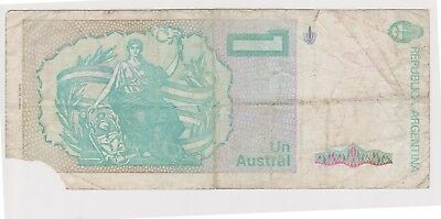 (N8-80) 1986 Argentina 1 AUSTRAL bank note (space filler) (E)