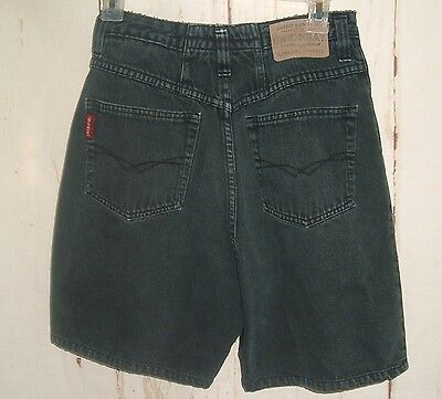 Vintage 90s Womens Jrs size 9 High waist Shorts Union Bay BLack Cotton Mom Jeans