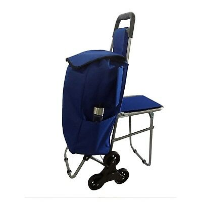 Trolley Dolly Stair Climber with Seat Shopping Grocery Foldable Cart Top Quality