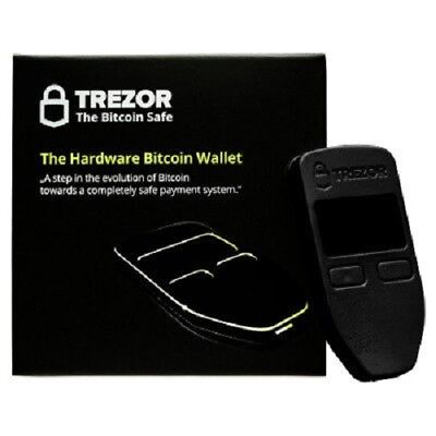 OPENED ONCE-NEVER USED Trezor Hardware Wallet BLACK