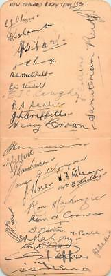 Vintage Autograph Page - New Zealand All Blacks Rugby Team - 1935