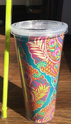 Vera Bradley Travel Tumbler in Paisley in Paradise, Drink Cup, BOXED, NWT