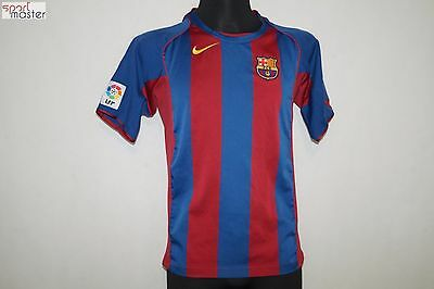 Barcelona 2004 - 2005 Home Nike Football shirt SIZE XL 164-176 CM (KIDS)
