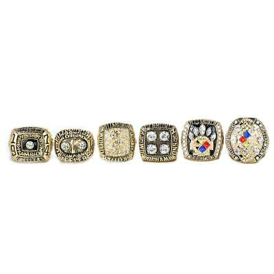5 PCS Pittsburgh Steelers Super Bowl Championship Rings