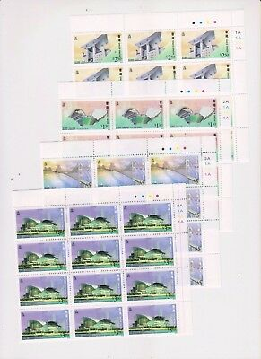 "Hong Kong,1997, ""lantau Bridge"" Block Of 12 Stamp Sets Mint Nh, Fresh"