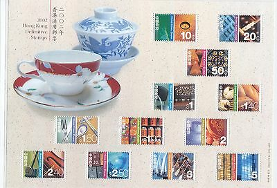 "Hong Kong, 2002, ""definitive - E. And W.culture -  Low Value"" S/s Mint Nh Fresh"