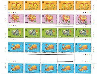 "Hong Kong,1997, ""year Of Ox"" Gutter Block Of 10 Stamp Sets Mint Nh, Fresh"