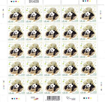 "Hong Kong, 2008, ""giant Panda"" Set Of 4 Full Sheets Mint Nh Fresh"