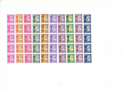 "Hong Kong,1991, ""reel (Coil) Stamp- 10C-$2.30 X 5 = 50 Stamps W/same #80 Mint Nh"