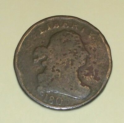 1803 US Draped Bust Half Cent NR Free Shipping