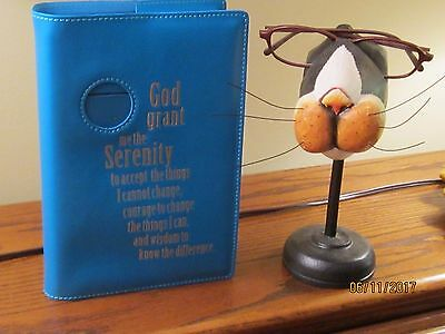 Alcoholics Anonymous book cover medallion  serenity prayer  inspirational,