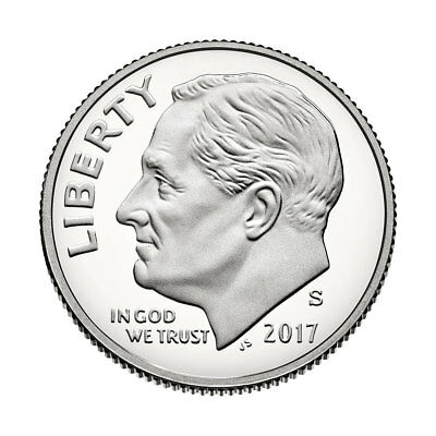 2017 Roosevelt Dime-Clad Proof DCAM, Flat Rate S/H-additional coins ship free