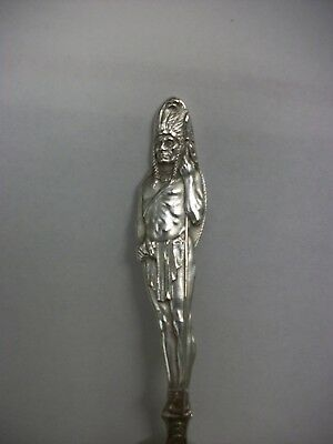 Sterling Silver Indian Chief Souvenir Spoon By Joseph Mayer