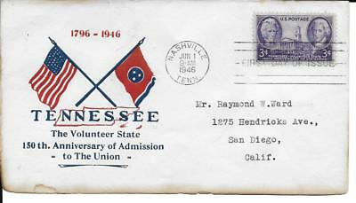 Scott #944 - US FDC - 150th Ann. of Tennessee