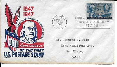 Scott #947 - US FDC - 100th Ann. of postage Stamp Boll cachet
