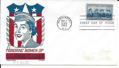 Scott #1013 - US FDC - Women of the Armed Forces