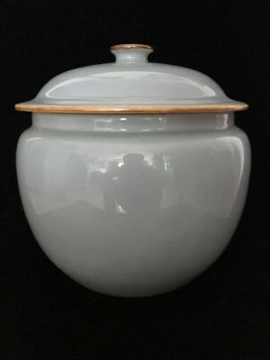 A Nice 1960 Chinese Porcelain Bowl With Lid Cultural Revolution Period