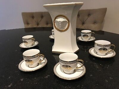 Versace Vase And Milano Medusa Collection Tea Cups