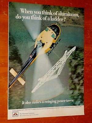 Bell Helicopter Carrying Huge Hydro Tow For 1960S Aluminum Association Ad