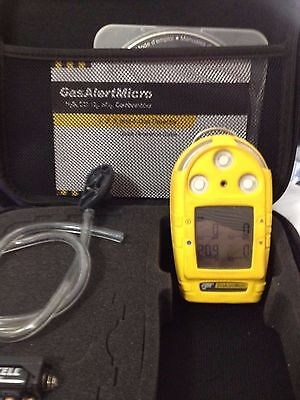 BW Technologies Micro Four gas monitor new oxygen sensor/calibrated 4-gas cal'd