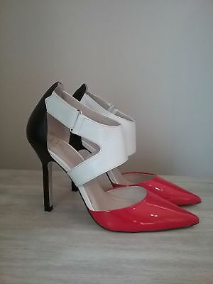 Woman's Wittner Red, Black & White High Heel Shoes Size 36