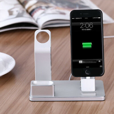 Aluminum Dock Stand Bracket Charging Holder Kit For Apple Watch iPhone Airpod BT