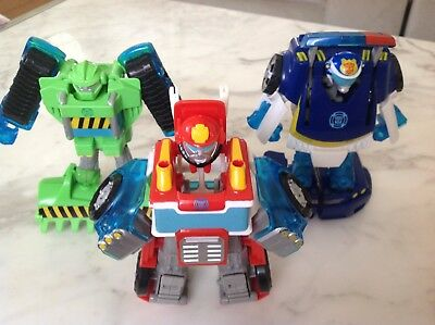 Transformers Rescue Bots Action Figures Toy Chase Boulder Heatwave