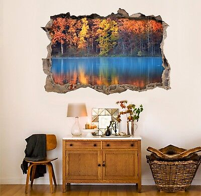 3D Tree And River 7 Wall Murals Stickers Decal breakthrough AJ WALLPAPER AU Kyra