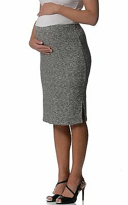 BNWT  Knitted Maternity Skirt - Grey - Most Sizes