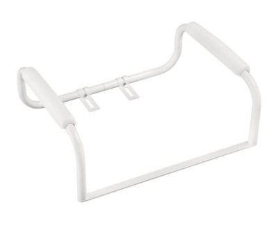 Delta Elevated Toilet Safety Bar, Padded Arms Grab Handles, Aluminum Frame White