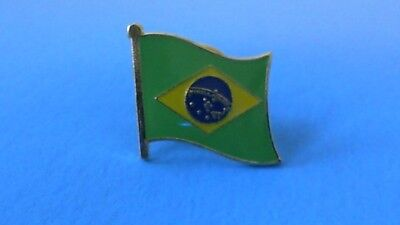 Brazil Brazilian Flag Pin Badge Tie Tack! Brand New South America