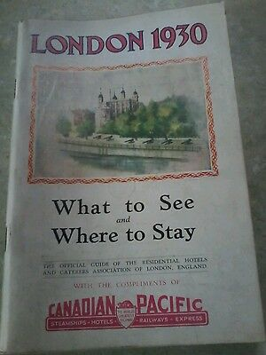 London 1930 Travel Booklet Canadian Pacific