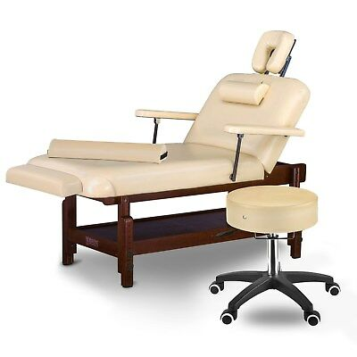 Master Massage 31 inch Samson Stationary Spa Salon Liftback Backrest Table Bed