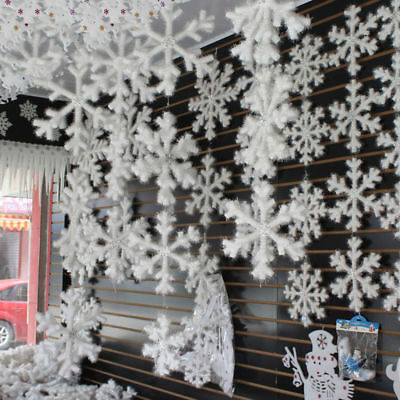 300pcs Classic Shiny Snowflake Ornaments Christmas Tree Holiday Party Home KY