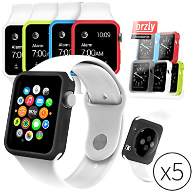 Orzly- Apple Smart Watch Cases 5 Pack- Cover Silicone Cell Phones Accessories