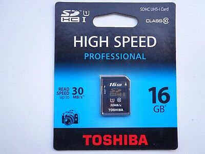 SD-Speicherkarte 16 GB Toshiba SDHC High Speed Professional SD-T016UHS1(BL5