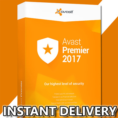 Avast Premier Internet Security 2017 3years 3PC Multi-Language Instant Delivery